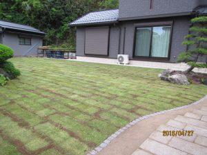 芝貼り 施工後